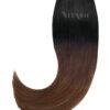 20 Remy Tape In Extensions Haarverlaengerung   Farbe Ombre Schwarz Schokobraun 50cm