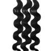 25 REMY Keratin Bonding Extensions Haarverlaengerung Leicht gewellt Farbe Schwarz   Vitash