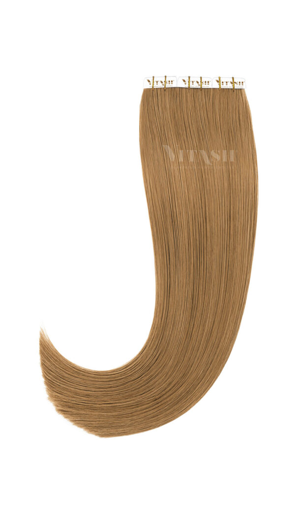 20 Remy Tape In Extensions Haarverlaengerung Farbe Hellaschbraun 50cm