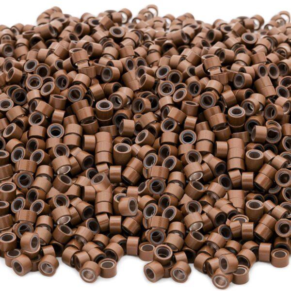 Microringe für Haarverlaengerung | 05,g Strähnen | Farbe Hellbraun 100 stück | Vitash