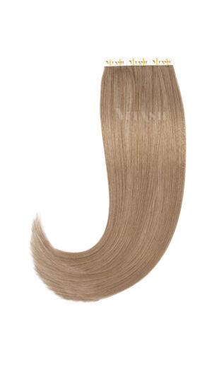 10 Remy Tape In Extensions Haarverlängerung Indische Echthaar Strähnen #18- Naturaschblond