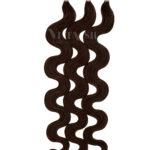 25 REMY Keratin Bonding Extensions Haarverlaengerung Leicht gewellt Schwarzbraun Vitash