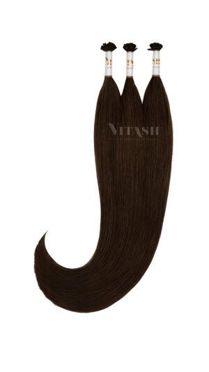 25 REMY indische Echthaar Strähnen - 0,8 Gramm pro Strähne #1b- schwarzbraun