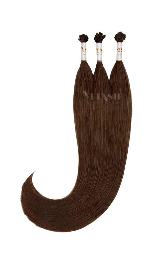 Vitash 25 Keratin Bonding straehnen | Haarverlaengerung | Extensions | Farbe #2 Dunkelbraun | 65cm