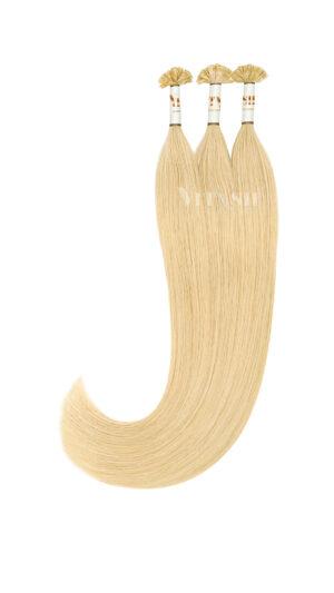 25 REMY indische Echthaar Strähnen - 1 Gramm pro Strähne #24- mittelhellblond