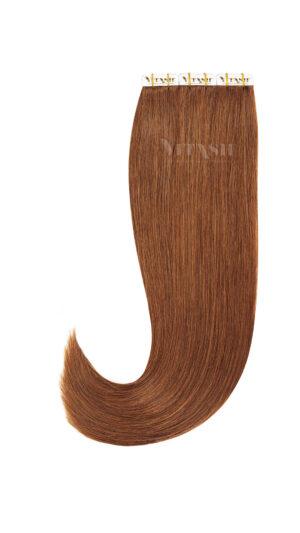 20 Remy Tape In Extensions Haarverlängerung Indische Echthaar Strähnen Tressen Skin Weft #33- Kupferblond