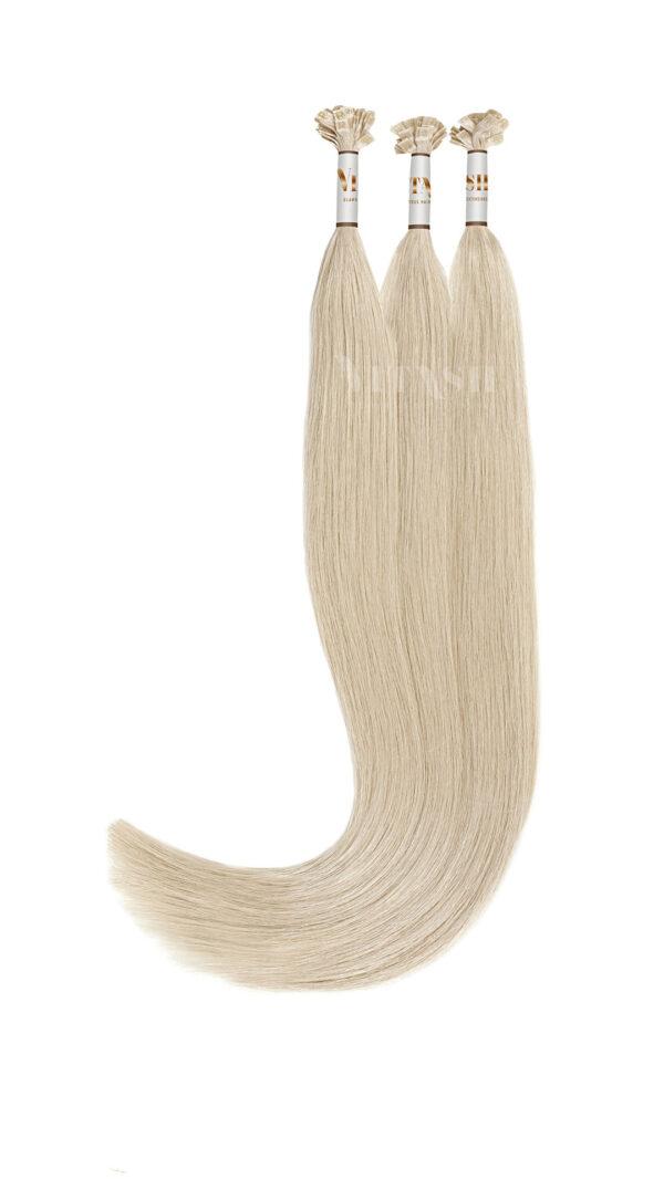 Vitash 25 Keratin Bonding strähnen | Haarverlaengerung | Extensions | Farbe #60 Platinblond | 65cm