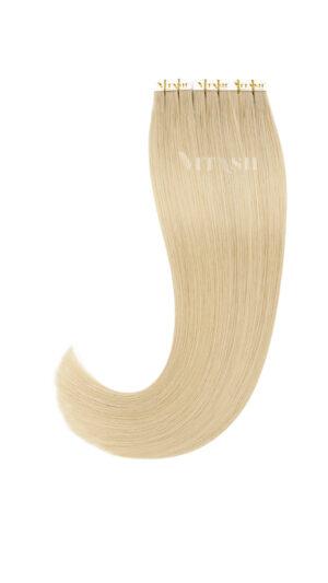 10 Remy Tape In Extensions Haarverlängerung Indische Echthaar Strähnen Tressen #613- Hellblond