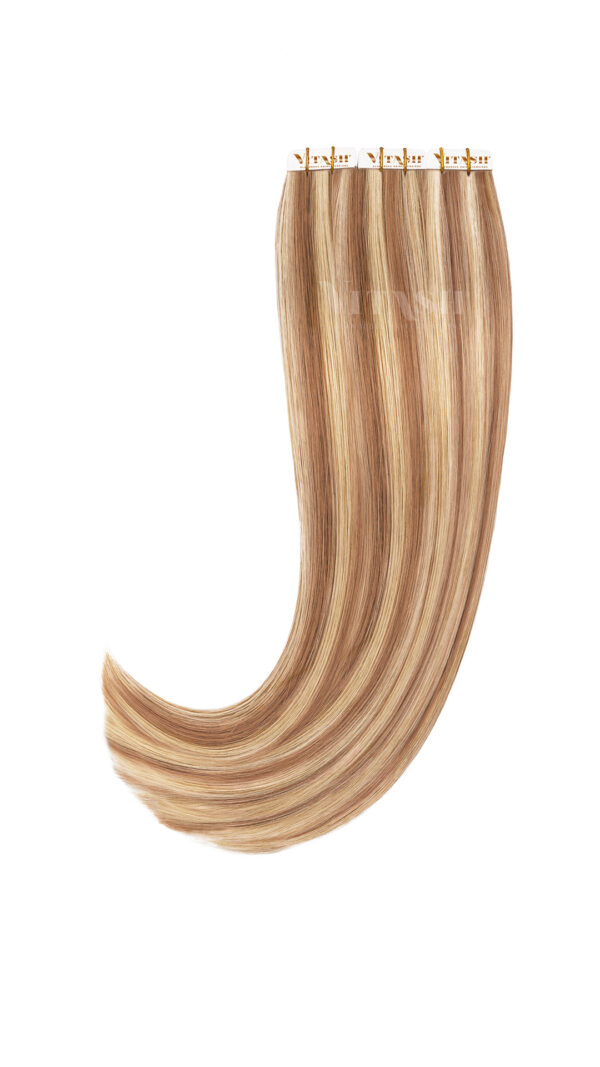 Vitash 20 Remy Tape In Extensions Haarverlaengerung Farbe Piano Blond mix 50cm