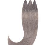 Vitash 25 Keratin Bonding straehnen   Haarverlaengerung   Extensions   Farbe # Silber Grau  55cm