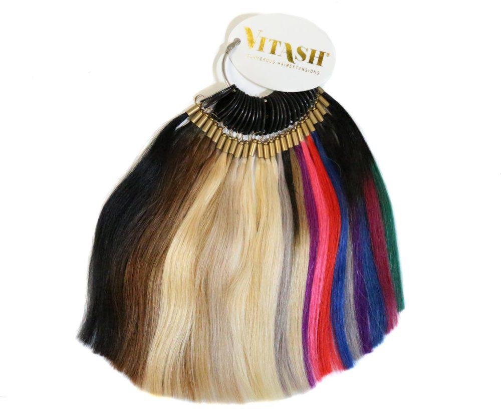 vitash Extensions farbring Colorring Farbkarte Hairextensions bonding keratin gefertigt aus Echthaar