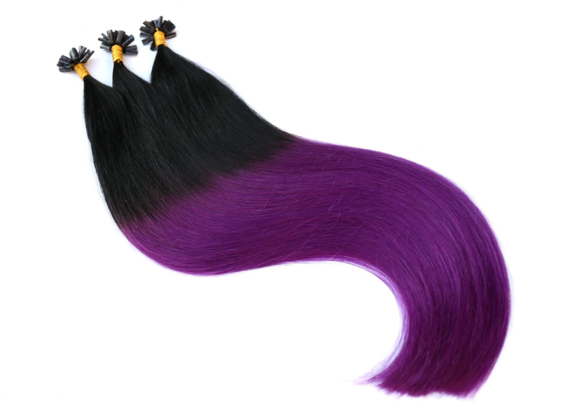 Vitash Keratin Bonding Extensions Haarverlängerung Haarverdichtung Ombre Balayage Schwar Lila Purple