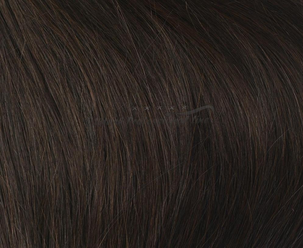 25 REMY indische Echthaar Strähnen MITTEL gewellt - 1 Gramm pro Strähne #1b- schwarzbraun