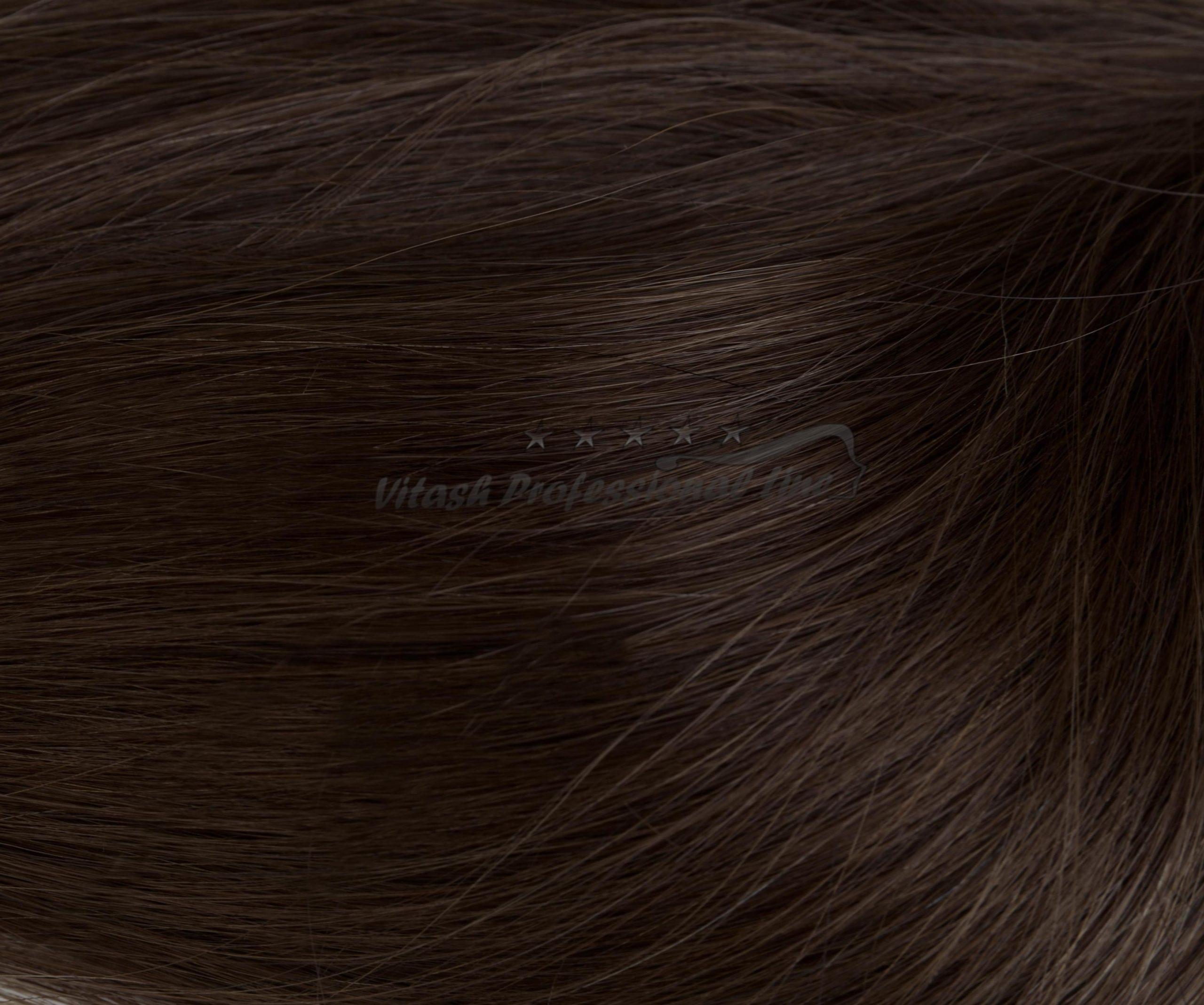 25 REMY indische Echthaar Strähnen MITTEL gewellt - 1 Gramm pro Strähne #2- dunkelbraun