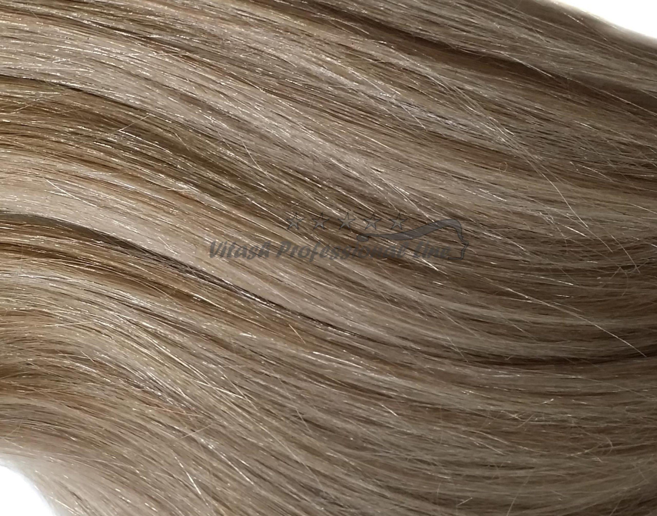 25 REMY indische Echthaar Strähnen leicht gewellt - 0,8 Gramm pro Strähne #22- hellaschblond