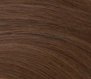 20 indische REMY Loop Echthaar Extension MICRORING 0,5 Gramm Strähnen #6- karamellbraun