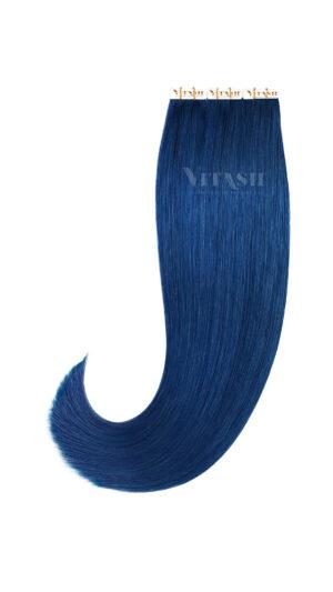 2 Tape In Extensions Remy | Haarverlängerung | Indische Echthaar Strähnen | Tressen | Skin Weft | #Blau