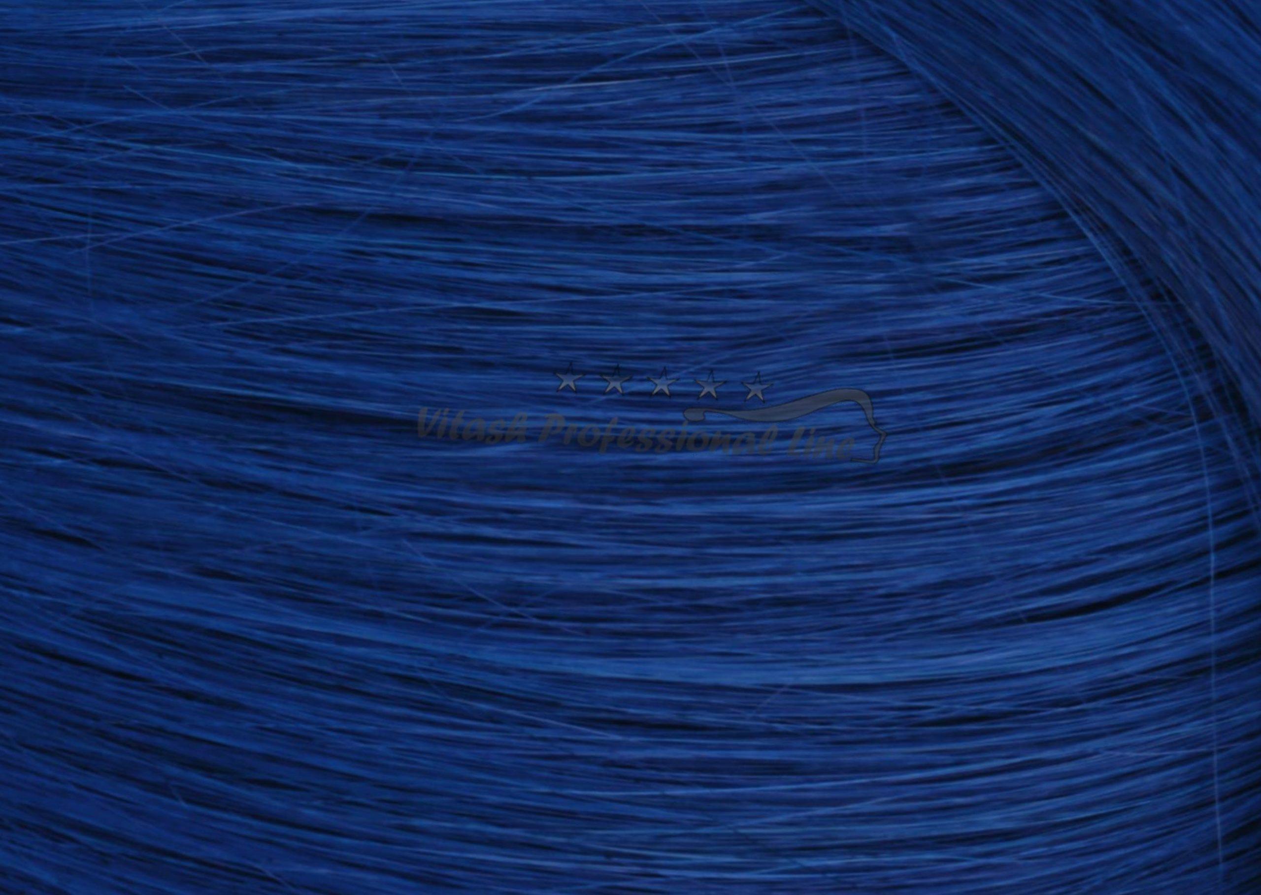 25 REMY indische Echthaar Strähnen - 1 Gramm pro Strähne # blau