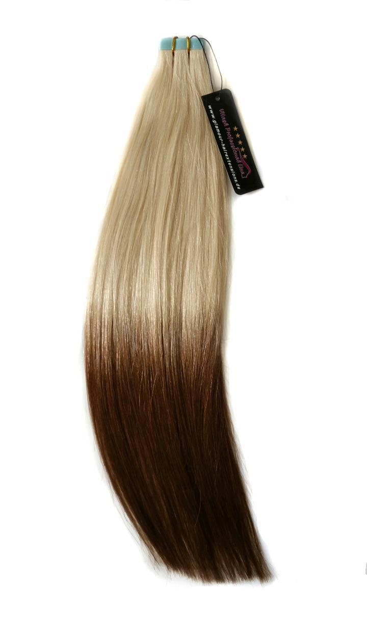 Tape In Extensions für Haarverlängerung in der farbe Ombre