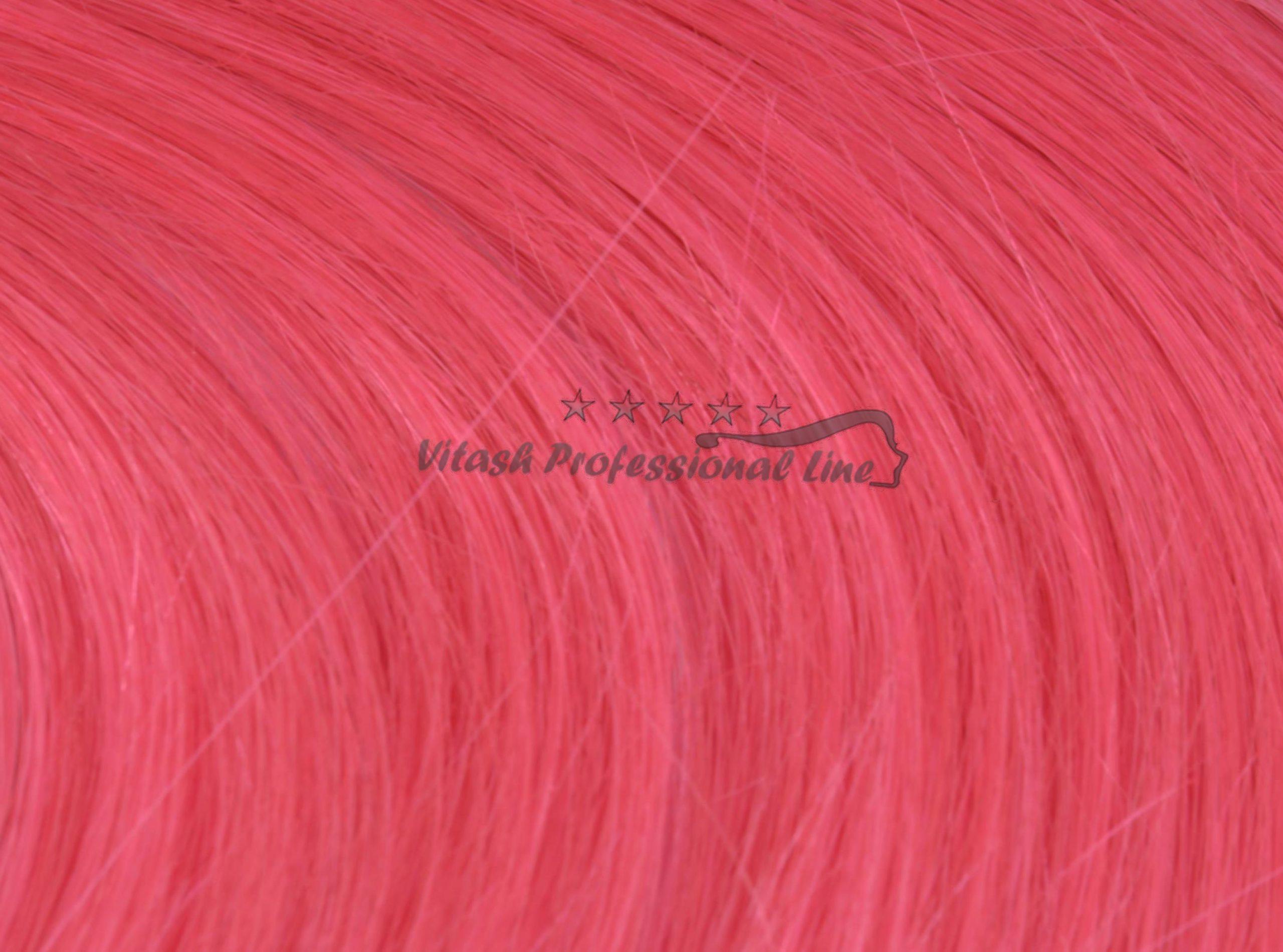 25 REMY indische Echthaar Strähnen - 0,8 Gramm pro Strähne # pink