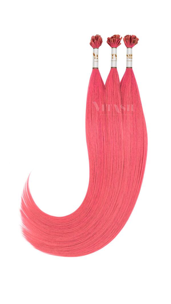 Vitash 25 Keratin Bonding strähnen | Haarverlaengerung | Extensions | Farbe #PINK | 55cm