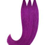 Vitash 5 Keratin Bonding strähnen   Haarverlaengerung   Extensions   Farbe #Purple Lila Violet   55cm
