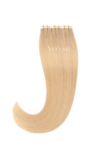 10 Remy Tape In Extensions Haarverlängerung Indische Echthaar Strähnen Tressen #16- Honigblond