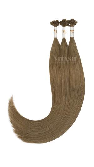 25 REMY indische Echthaar Strähnen - 1 Gramm pro Strähne #10- Asch-Hellbraun