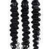 25 REMY Keratin Bonding  Extensions Haarverlaengerung   Stark gewellt Schwarz   Dauergewellt