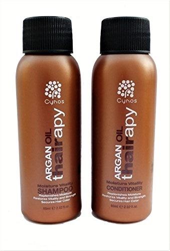 2 Tlg. SET Cynos Argan oil Moisture Vitality Shampoo + Spülung in Reisegröße / 2x 60 ml