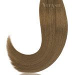 25 Russisches Echthaar | Bonding | Haarverlaengerung | Extensions | Farbe #10 Hellaschbraun | 50cm