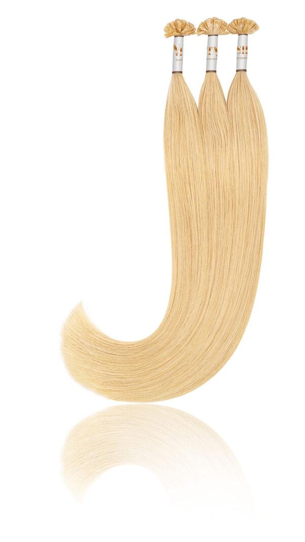 25 Russisches Echthaar | Bonding | Haarverlaengerung | Extensions | Farbe #16 Honigblond | 50cm
