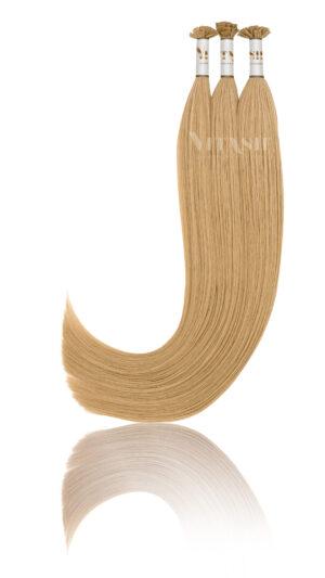 25 Russisches Echthaar Extensions Haarverlängerung | Keratin Bonding | 50 cm #18 Dunkelblond Mix