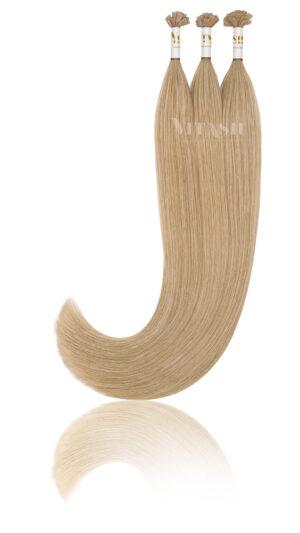 25 Russisches Echthaar Extensions Haarverlängerung | Slawisches Echthaar | Keratin Bonding | 50 cm | #22 Hellaschblond