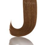 25 Russisches Echthaar | Bonding Haarverlaengerung | Extensions | Farbe #4 Schokobraun | 50cm