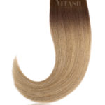 25 Russisches Echthaar | Keratin Bonding strähnen | Haarverlaengerung | Extensions | Farbe Balayage #T3-M8/24 | 50cm
