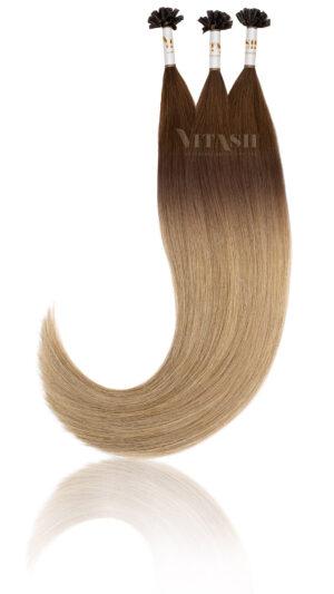 25 Russisches Echthaar Strähnen | Haarverlängerung Extensions | Keratin Bonding | 50 cm #Balayage T3-M8/24