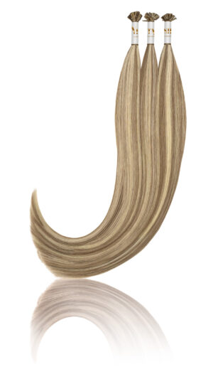 25 Russisches Echthaar Haarverlängerung Extensions | Slawisches Echthaar | Keratin Bonding | 50 cm | #60/10 Mixcolor Piano